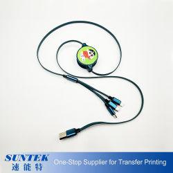 Sublimation multifonction 3dans1 Câble USB pour iPhone, Android téléphone mobile et cellulaire de type C