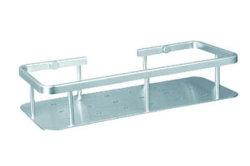 Cuarto de baño de aluminio de estante de la esquina del rectángulo (ZW-513)