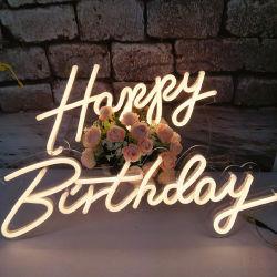 Partei, die dekoratives LED-Neonzeichen-Licht-alles Gute zum Geburtstag beleuchtet