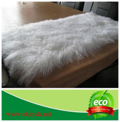 Sheepskin tibetano mongolo Rug Carpet con Solid Color