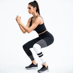 Ropa casual popular malla reflectora cosiendo ropa deportiva Fitness Yoga traje traje para la mujer o señoras