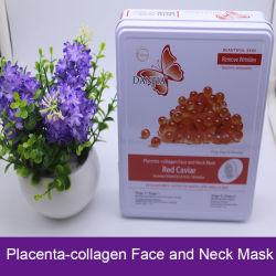 El ácido hialurónico Caviar rojo Placenta-Collagen Máscara de cara y cuello Mascarilla Facial Anti Wrinkle