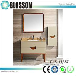 Salle de bains en PVC coin lavabo armoire murale (BLS-17357)