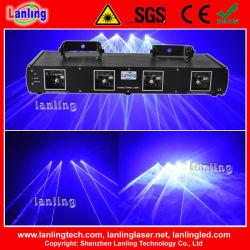 Синий 4 глав государств лазерного оборудования DJ фонари