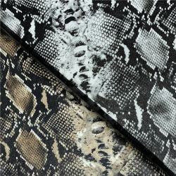 Pythonschlange-Schlange-Ende-DruckenFaux PU-Leder für die Herstellung der Schuh-Umhüllungen und der Beutel