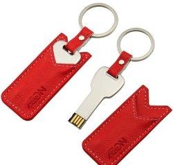 8GB 16g 32g 4G OEM de Aandrijving van de Flits van het Leer USB van de Vervaardiging (tf-0250)