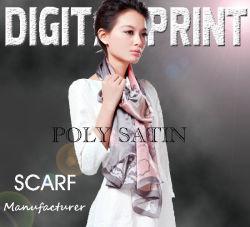 Acetinado de Impressão Digital 100% Poli para lenços (M036)