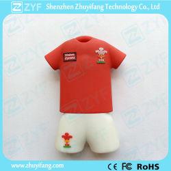 カスタムジャージーのフットボールのTシャツUSBのフラッシュ駆動機構(ZYF1016)