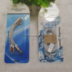 Transparante, op maat aangepaste blisterwarmterecipers met papieren kaart voor Kabel