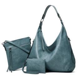 حقيبة يد من الجلد PU بالجملة ذات مجموعة واحدة للبيع الساخن 3PCS حقيبة اليد المصممة خصيصا للنساء