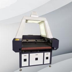 Alimentação automática assíncronos Double-Head máquina de corte a laser para a marca registrada