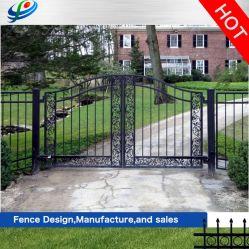 En el exterior de metal de aluminio correderas de garaje valla de acero galvanizado puerta/puerta de hierro forjado puerta automática // Diseño de la puerta principal de hierro para el hogar/Jardín/Granja