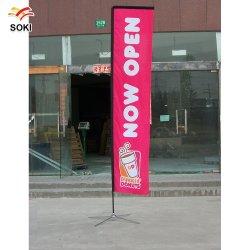 Route de la publicité en fibre de verre de drapeaux Drapeau Suuare bannières de plumes personnalisé Sail drapeaux drapeaux vertical à un prix abordable