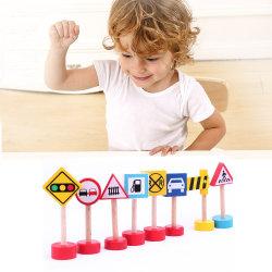 子供の赤ん坊(GM-031)のための木の手段の交通標識車トラック子供の教育おもちゃ