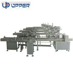 Linha de máquinas de embalagem de produção automática para o bolo de chocolate wafers tais tipos de géneros alimentícios