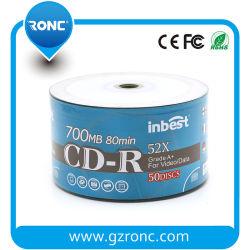 CD-R 700MB 52X del disco dello spazio in bianco di stampa in offset dell'asse di rotazione 50PCS