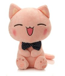 Bonitinha face grande sorriso Cat recheadas de pelúcia macia sorte grande Doll a Girl Grosso Peluche Personalizado
