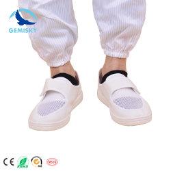 A ELECTRICIDADE ESTÁTICA ESD para salas brancas de calçados de segurança de malha exclusivo de PVC Shoeanti Static