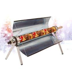 Приготовление пищи с солнечной печи для барбекю в открытый зимой