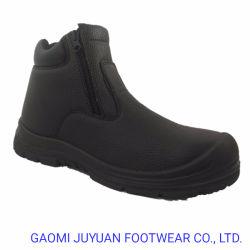 Split Leathe gaufré Chaussures de sécurité avec fermeture à glissière travailleur 2 pour le pétrole