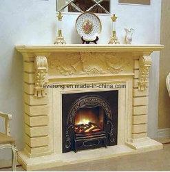 Chimenea de Piedra Natural Europeo diseñado manto para la decoración de interiores
