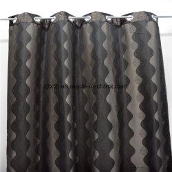 Tessuto ondulato grigio e nero di alta qualità del mercato dei 2018 commerci all'ingrosso del poliestere della stanza della tenda del panno