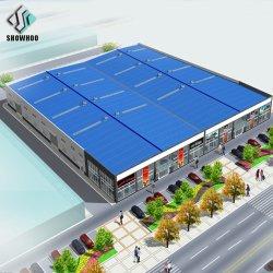 هيكل مبنى معدني من تصميم الأرضية Molti-Floor والسقف المقاوم للحريق مستودع اللوجستيات الفولاذية