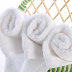 Tele domestiche poco costosa dell'hotel 100% del cotone di bianco del tovagliolo di mano di prezzi e