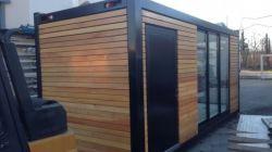 Desmontable Contenedor de montaje rápido personalizado pequeña cabaña de troncos prefabricados