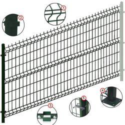 Защитный Забор из Сварной Сетки с ПВХ-покрытием