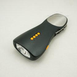 Dínamo Manivela Recarregável Lanterna de emergência com rádio e alarme