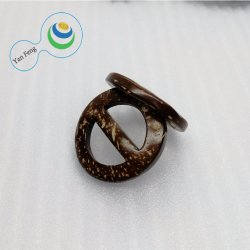 ID18.5mm Qualitäts-gebürtige Kokosnuss-hölzerne symmetrische Taste für Riemen