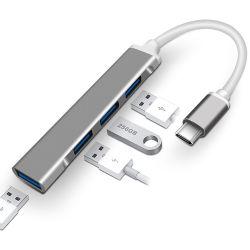 외부 4 포트 선창 Gamepad PC 휴대용 컴퓨터 이더네트 부속품 쪼개는 도구 변환기 USB 유형 C 허브 접합기