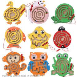 Frühes pädagogisches Gehirn-zackiges Vorstand-Kind-magnetisches Labyrinth-hölzernes Puzzlespiel-Spielzeug