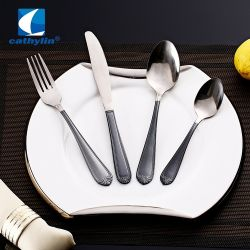 Стильный наборы столовых приборов из нержавеющей стали, PVD ручки столовые приборы для свадьбы ресторан событий