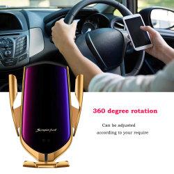 De automatische het Vastklemmen Universele het Laden van de Sensor van de Lader van de Auto Qi Draadloze Infrarode Snelle Steun van de Auto van de Houder van de Telefoon AutoToebehoren