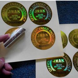 3D Holografische anti-Vervalst van de Laser Sticker van het Etiket van de Druk van de Veiligheid Zelfklevende