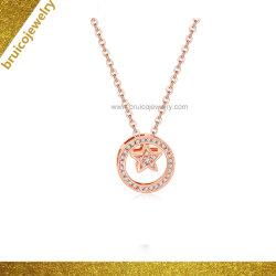 نمو مجوهرات نساء [روس] نوع ذهب يصفّى [جولّري] جديدة تصميم فضة عقد مع زركونيوم