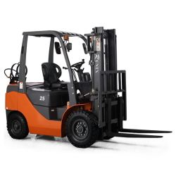 L'essence et GPL Runtx 2.5Ton chariot élévateur à fourche hydraulique avec moteur de carburant double