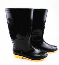 Bottes de pluie en PVC de gomme à mâcher des bottes de pluie de gros de chaussures à Guangzhou