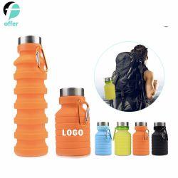 Tasse de café pliable en silicone coupe Pliage/Mug bouteille sport avec couvercles - pliable et portable et léger pour l'extérieur de la Coupe du voyage en Camping Randonnée pédestre