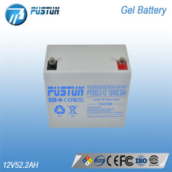 SLA Pustun Deep-Cycle Bateria de gel utilizado para o Sistema de Energia Solar Longa Vida 12V 52.2AH