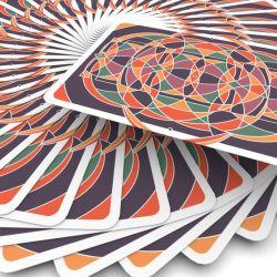 Personnalisé Papier de base bleu arrière des cartes à jouer