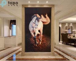 ホーム装飾(MR-YB17-817)のためのリアルな馬の芸術のガラス絵画