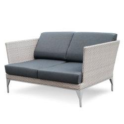 Простой дизайн люкс обставлены плетеной кресло Loveseat 2-местный диван садовой мебелью