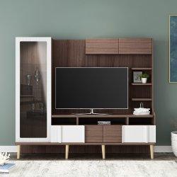 حديثة يعيش غرفة أثاث لازم خشبيّة تلفزيون [ولّ ونيت] تلفزيون حامل قفص