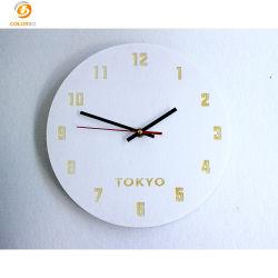 Eenvoudig gevoeld Polyester World Wall Clock voor Decoratrion