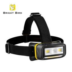 5W LED + 1.5W COB ( フロント )+ 5W COB ( ボトム )+ センサ充電式ヘッドランプ