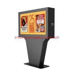 55 '' Reklameanzeige-Kiosk-im Freien wasserdichte IP65 Touch Screen LCD-Spieler