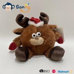 カスタマイズ可能なXmasのプラシ天3のAsstd笑う動物のおもちゃ